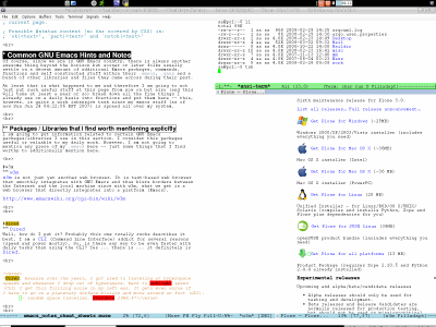 Notes and Cheat Sheets Page for GNU Emacs